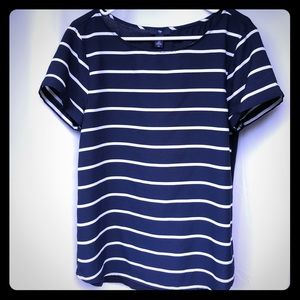 GAP Striped Blouse - Navy & White